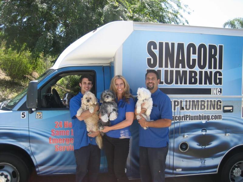 Simi Valley Plumbers | Sinacori Plumbing Family at work truck
